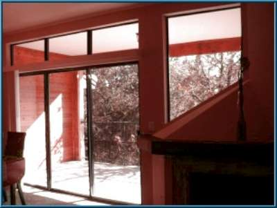 Sliding glass doors from living and bedroom,condominiums,AMD